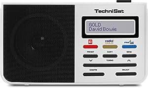 TechniSat DIGITRADIO 210 Berlin Edition/Digital-Radio, tragbar, DAB+, UKW, zweizeiliges LCD-Display, Teleskopantenne, Kopfhöreranschluss, Favoritenspeicher, Netzteil, weiß
