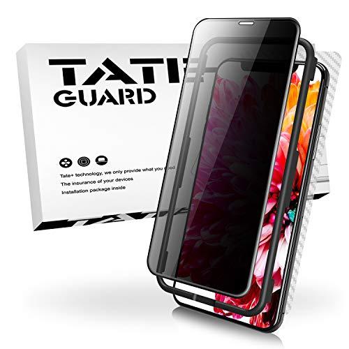 TATE GUARD Panzerglas Schutzfolie kompatibel i\'Phone X/XS Displayschutzglas, Anti-Spy, Anti-Kratzen, Panzerfolie, 9H Härte, 2.5D, leichte Anbringung, 3D Touch Kompatibel