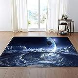 TWGDH 3D Sterne Teppich Anti-Rutsch-Matten Wohnzimmer Schlafzimmer Esszimmer Pad Maschine Waschbar Nach Hause Teppich,#4,100×150Cm