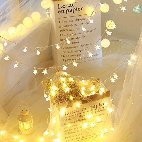 100 LEDs Sterne Lichterkette Außen Deko String Glühbirnen Europa-Stardard Stecker Für Hochzeitslicht Dekoratives Licht