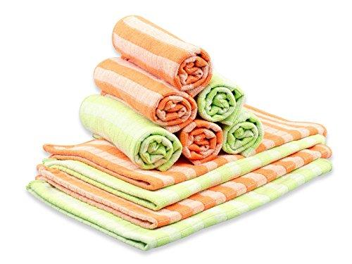 RESPEKT Mikrofaser Bamboo, 10tlg Geschirrtücher-Set, orange/grün - Das Original aus dem TV!!!
