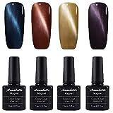 Annabelle Katze Augen Magnet Nagellack UV Nagellack Soak Off Nail Art 7.3ml (7.3ml/pc Lot de 4) 006
