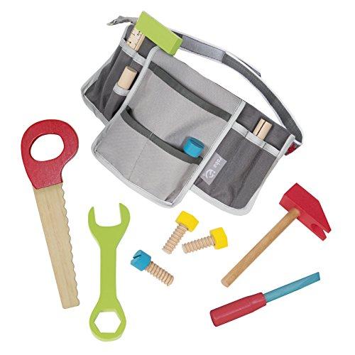 Hammer Kostüm Und Nagel - roba 97209 roba Werkzeuggürtel, mit vielen Taschen und 11-teiligem Zubehör, Schrauben, Nägel, Hammer Säge, mehrfarbig
