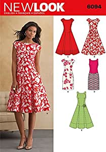 New Look Sewing Pattern 6094 - Misses' Dresses Sizes: A (8-10-12-14-16-18)
