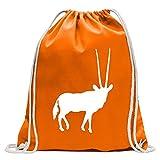 Kiwistar Antilope Impala Kudu Gabelbock Turnbeutel Fun Rucksack Sport Beutel Gymsack Baumwolle mit Ziehgurt