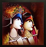 #10: SAF Radha Krishna Exclusive Framed Wall Art Paintings (Synthetic, 12 inch x 12 inch)