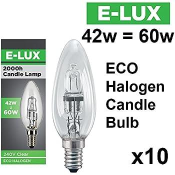1 x max 42w ses/e14 eco halogen candle bulb