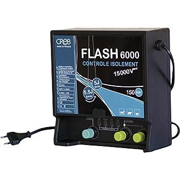 Creb FLASH 6000 Electrificateur Plastique Bleu/Noir 24,5 x 23 cm