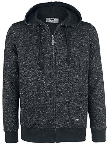 Black Premium by EMP Melange Hoodie Jacket Felpa jogging nero XXL