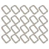 Pixnor-Gurtbandschnalle aus Metall, rechteckig, silber, 25 mm Gürtelschnalle, 20er-Pack