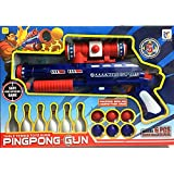 Vivir High Quality Ping Pong Ball Mini Machine Gun Toys For Kids With 6 Pieces Bowling And 6 Pieces Ping Pong Game Set For Kids