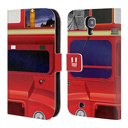 Head Case Designs Police Box I Love London Brieftasche Handyhülle aus Leder für Samsung Galaxy S5 mini London Bus