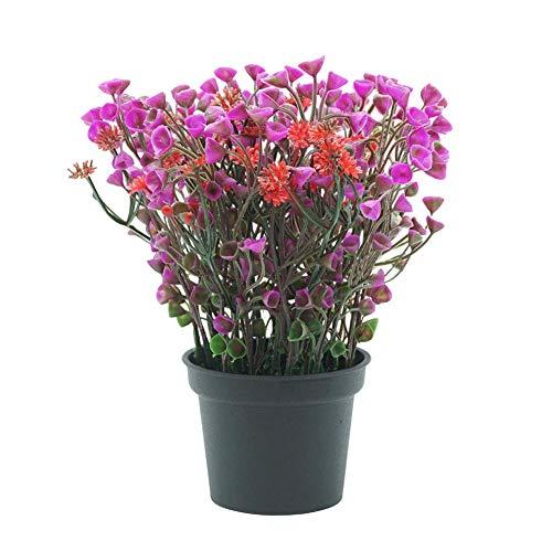 f künstliche Blume Bonsai Leistung bühne Garten Hochzeit Party Decor/gut gemacht und Leuchtend gefärbt, Sieht realistisch und schön aus Rose Rot ()