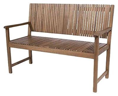 SIENA GARDEN Gartenbank, Sitzbank Falun, 2er-Bank, aus FSC® 100% Akazienholz, geölt, ca. 59 cm x 122 cm x 90 cm