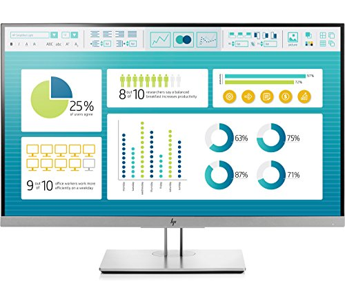 8. HP EliteDisplay 27-inch (68.58 cm) Anti Glare IPS Full HD Monitor with VGA - E273 (Black/Silver)