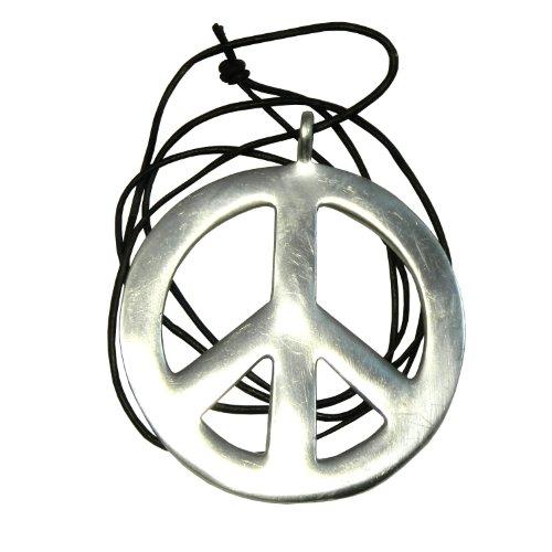 Halskette Peace Anhänger PORTOFREI Friedenssymbol Hippie Kette - Berühmten 70er Jahre Kostüm