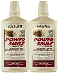 Jason Natural Jason Powersmile Mouthwash-Cinnamon Mint-16 oz, 2 pack