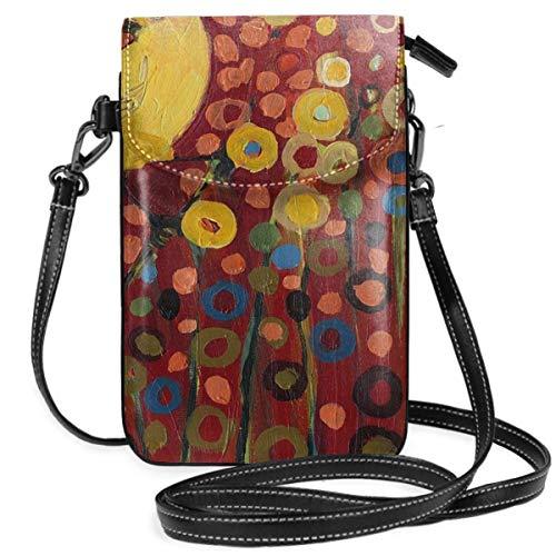 LEPO\'S Handy-Umhängetasche Tasche Handtasche Kanarienvogel In Rot Crossbody Smartphone Geldbörse
