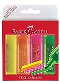 Faber-Castell 154604 Textmarker Textliner 1546 4er Etui sortiert