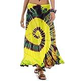 Langer Hippie Batik Gypsy Zigeuner Rock 36 38 40 42 S M (Gelb)