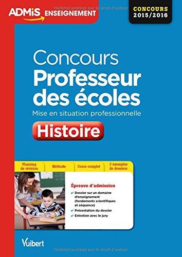 Concours Professeur des coles - Histoire - Mise en situation professionnelle - CRPE 2016