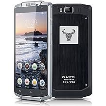 "Oukitel K10000 - Smartphone 4G Libre Android 5.1 (Quad Core, Pantalla 5.5"", IPS 1280*720 HD, 2GB RAM, 16GB ROM, Cámara 8.0MP, Dual SIM, Smart Gesto, GPS, OTG) Negro"