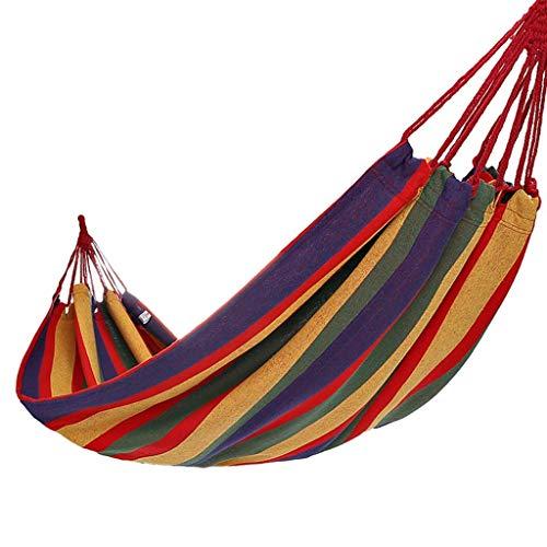 Yuany Hängematten-Polyester-Rotstreifen sondern im Freienpicknickmatte 79 * 39 Zoll aus, die 120kg tragen -