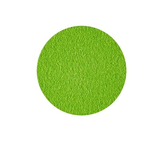 Untersetzer Glasuntersetzer Tischset Scheibe rund 100% Merino Filz 3mm Ø 20 cm (mai grün) - 2