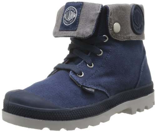 Palladium Baggy Zipper K, Boots mixte enfant Bleu (323/Navy/Metal/Tan)