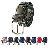 Cintura da golf da donna Cintura elastica intrecciata Cintura sportiva esterna - Cintura verde militare