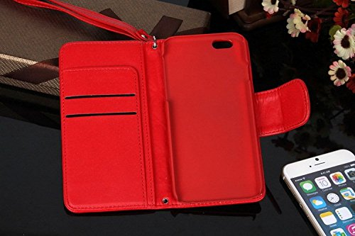 Pour iPhone SE Coque, iNenk® PU Cuir Portefeuille Téléphone Coque peau d'agneau Shell Carte Solide Couverture Sets Housse protection Pour femmes Pour iPhone SE-Violet rouge