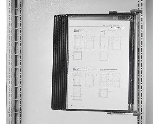 Preisvergleich Produktbild Rittal Sichttafel CP 6013.100 mit Wandhalter Schaltplantasche/-halter (Schaltschrank) 4028177449329