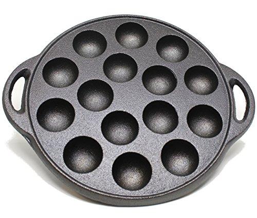 Kasian House Gusseisen Bratpfanne für die Herstellung der Poffertjes Pfannkuchen Balls, Takoyaki und Thai Kanom Krok und andere Desserts | 9