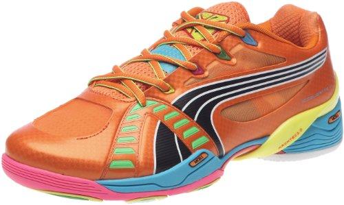 Puma Accelerate VI Tricks 102401, Herren, Sportschuhe - Indoor, Orange (team orange-fluo yellow-f 01), EU 45 (UK 10.5) (US 11.5) (Orange Schuhe Team)
