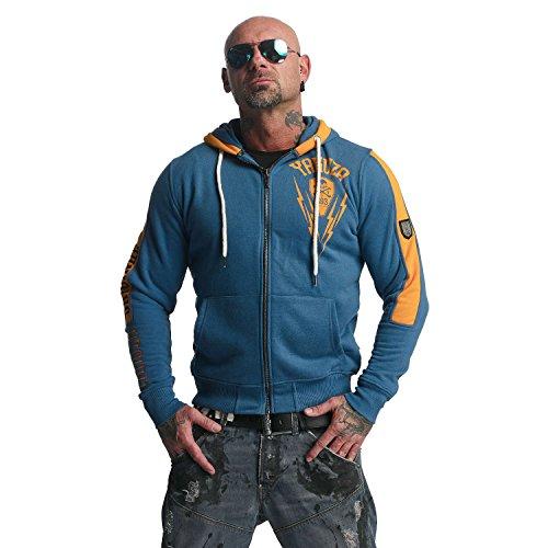 Yakuza Original Herren Thunder Zip Hoodie Kapuzenjacke Mallard Blue