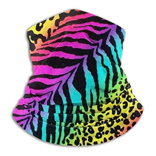 LiGHT-S Winter Halstuch Regenbogen Tier Zebra Reversible Ear Stirnband Ultimative thermische Retention Vielseitigkeit, für Herren