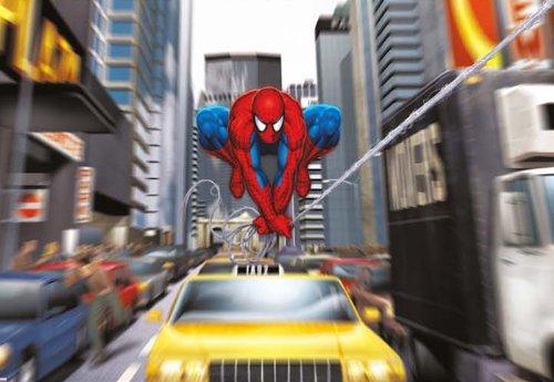Spider-Man Rush Hour – Disney – Wall Paper – Papier Peint Photo Mural 184 x 127 cm – 1 pièces. clos sont une Contenu du Colle et une klebea nleitung.