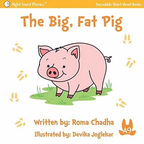A9 - The Big, Fat Pig: Every Child's First Phonics Reader (Fun & Easy Decodable Short Vowel Books for K-2 or Dyslexia) (English Edition) -