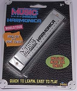 Music Makers Harmonica Silver