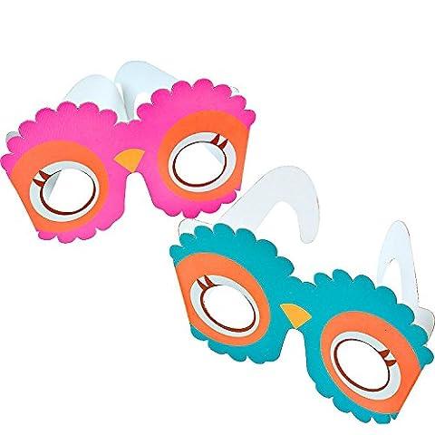 German Trendseller® - lunettes de hibou┃yeux de chouette ┃petit cadeau ┃l'anniversaire d'enfant┃ le coup sur chauqe fête