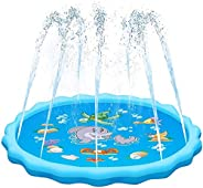 Innoo Tech Kids Sprinkler Mat Splash Pad - Child Water Play Mat Sprinkle Wading Pool Portable Inflatable Toys