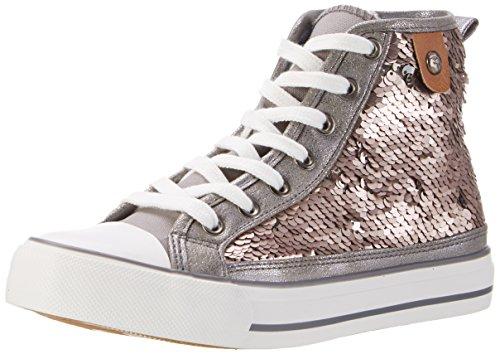 Fritzi aus Preußen Damen Sneaker 02 Hohe, Silber (Silver), 39 EU