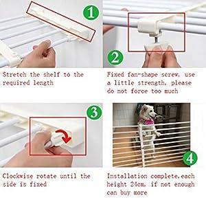 Milong Multifonction pour Animal Domestique Enfant Barrière de Sécurité Rétractable pour Chien Porte Portail Maison d'escalier Barrière Protection