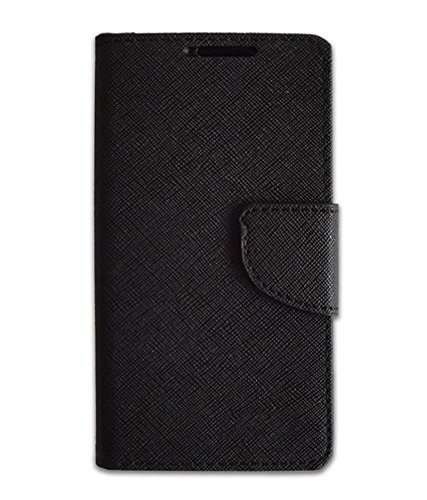 SDO Luxury Mercury Diary Wallet Style Flip Cover Case for Micromax YU Yureka/Yureka Plus - Black