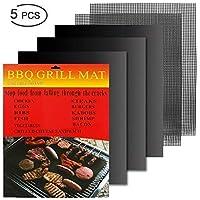 5Pcs Non-Stick wiederverwendbare Grill Matte FDA zugelassen Pads BBQ Werkzeug