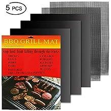 Hootracker 5pcs Parrilla BBQ Mat, Antiadherente Oven Liner Teflon Cooking Mats, fácil de Limpiar