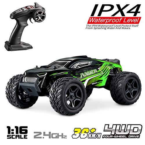Hosim RC Truck 1:16, Fernsteuertes Offroad Auto 4WD, Eletronik Hobby Rennauto Geschenke für Kinder & Erwachsene Modellnummer: G172 (Grün)