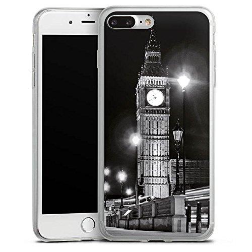 Apple iPhone 8 Slim Case Silikon Hülle Schutzhülle Big Ben London England Silikon Slim Case transparent