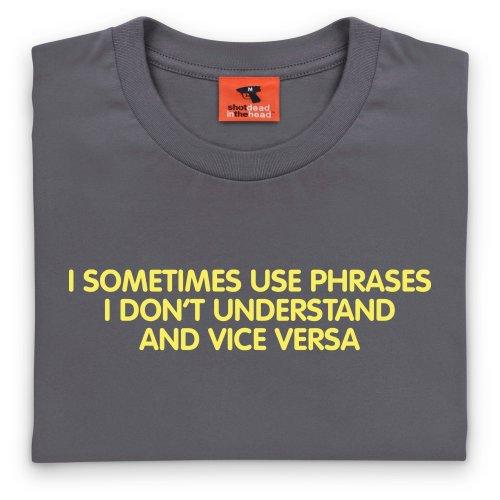 Phrases T-Shirt, Herren Anthrazit