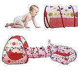 Indoor / Outdoor Spiel-Tunnel und Spiel-Zelt Cubby-Rohr-Teepee 3 in 1 Spielplatz für Kinder Baby-Kind-Spielzeug BALL NICHT ENTHALTEN
